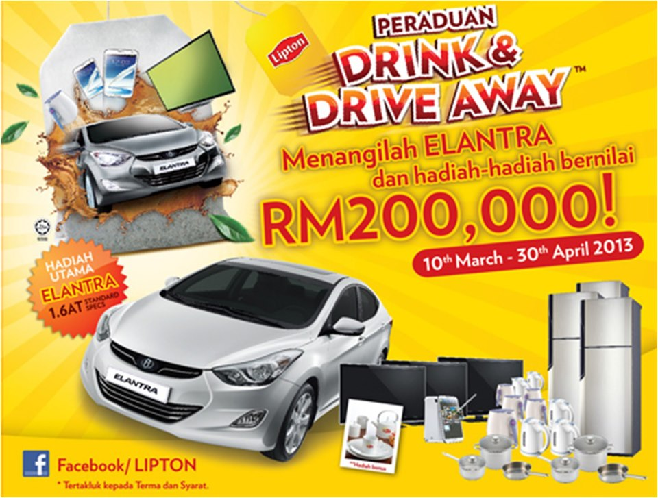 Lipton Drink  Drive Away Contest  Contests  Events Malaysia