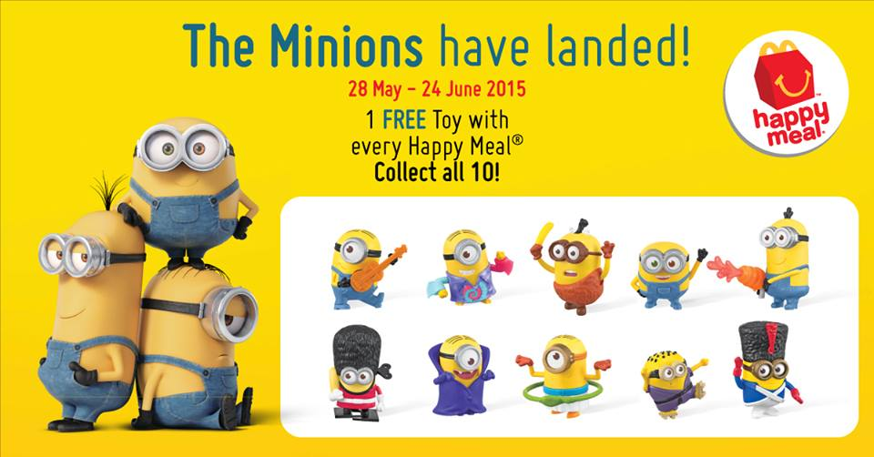minions at mcdonalds com sweepstakes mcdonald s 1 free minion toy with every happy meal 4156