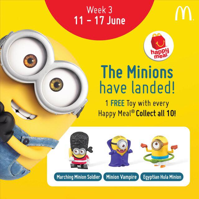 minions at mcdonalds com sweepstakes mcdonald s 1 free minion toy with every happy meal 7942